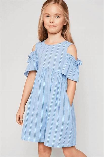Doll Mini Shoulder Cold Dresses Striped Babydoll