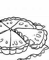 Pie Coloring Pages Pumpkin Apple Cake Cliparts Pies Food Colouring Printable Getcolorings sketch template
