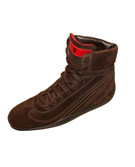 tods  ferrari brown suede driving boots sneakers