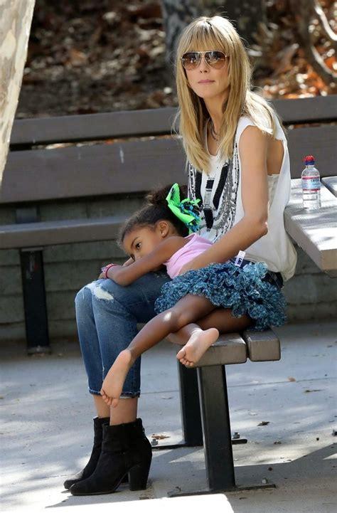 Heidi Klum Out With Her Daughter Zimbio