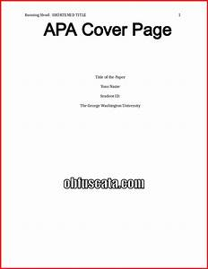apa essay without title pages