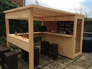 amenager un bar de jardin conseils utiles With bar de jardin en bois