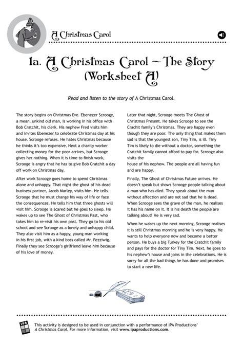 1a a christmas carol the story worksheet a