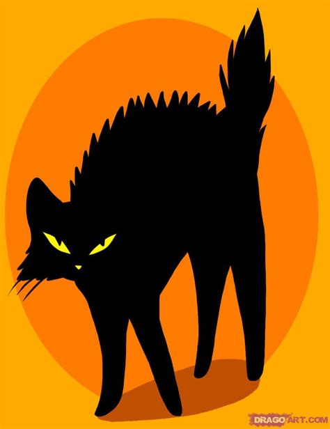 drawing  black cat tattoo added  dawn october