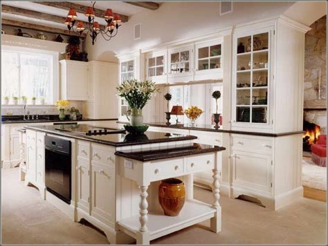 White Cabinet Black Countertop Awesome Kitchen Room White