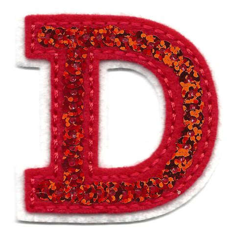 letters red sequin  letter  iron  embroidered applique ebay