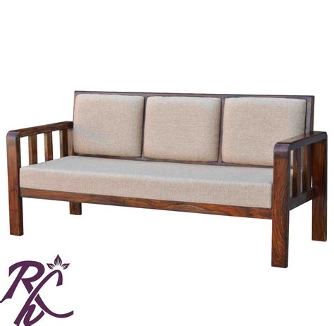 Wooden Simple Sofa by Buy Simple Solid Wood Sofa In India