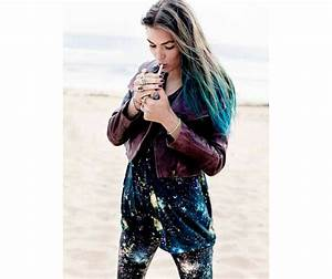Ombre Turquoise Blue Tip Dyed Hair Extension Teal Hair 22
