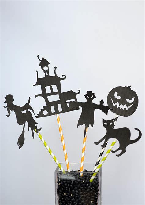 diy halloween shadow puppets   template julep