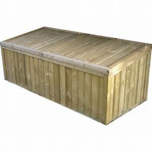 Coffre De Jardin Gifi : coffre de jardin bois naturelle x x cm ~ Dailycaller-alerts.com Idées de Décoration