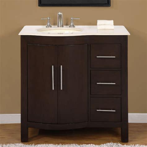modern single bathroom vanity  cream marfil