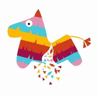 Pinata Fiesta Vector Horse Mexican Illustration Broken