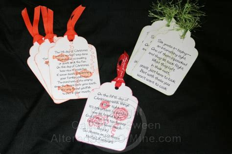 1000 images about 12 days of christmas gift poems on pinterest 12 days secret santa and