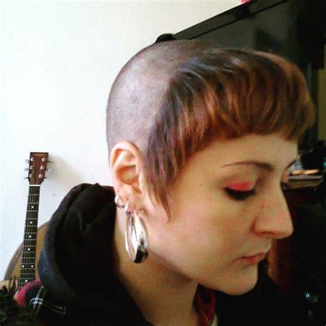 shaved head  short bangs chelsea cut chelsea cut shaved hair cuts girl haircuts