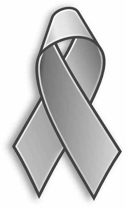 Ribbon Grey Cancer Clip Clipart Relay Cliparts