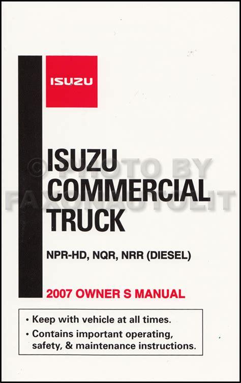 problem manual isuzu npr hd service manual