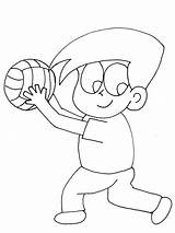 Coloring Volleyball Pages Printable Sports Ball Volley Print Popular Coloringpages101 Advertisement sketch template
