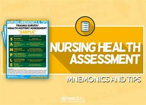 Nursing Health Assessment Mnemonics  U0026 Tips