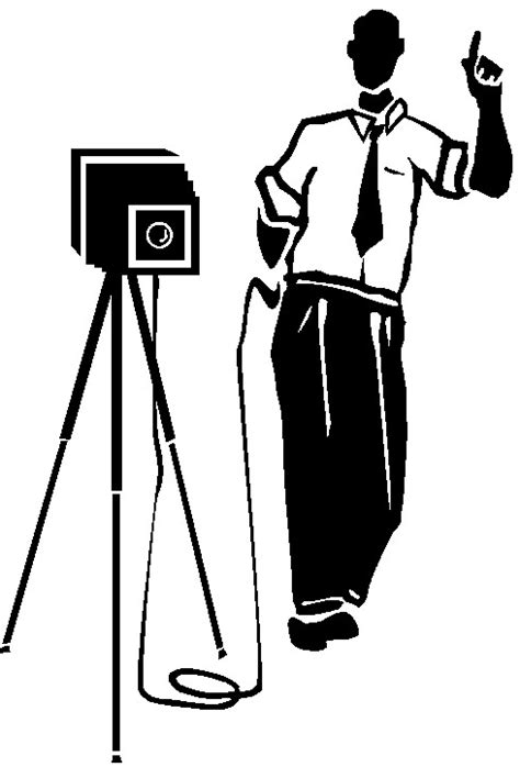 14347 photographer clipart vintage fotoapparate cliparts
