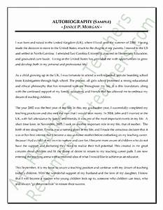 Teacher Autobiography Sample | fisher-prize | Sample essay ...