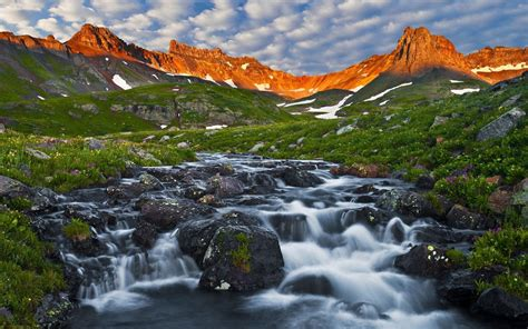 ice lake basin san juan mountains colorado usa spring
