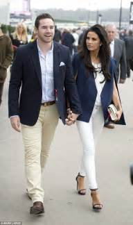 light blue cut up jeans katie price and husband kieran hayler don navy blazers at