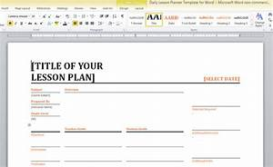 daily lesson planner template for word With how to make a lesson plan template in word
