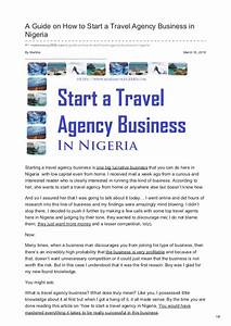 A Guide On How To Start A Travel Agency Business In Nigeria