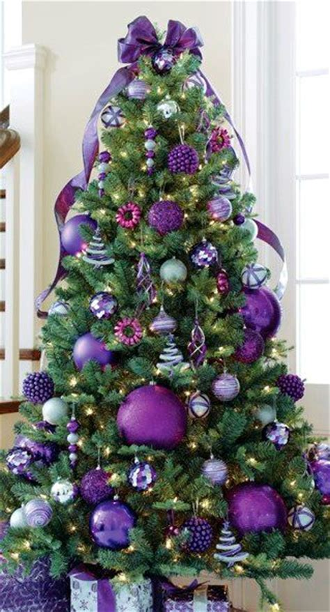 purple themed christmas tree tree purple things i trees my and ornaments