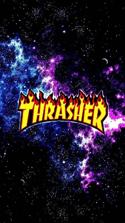 Thrasher Iphone Galaxy Background Hype Weed Hypebeast