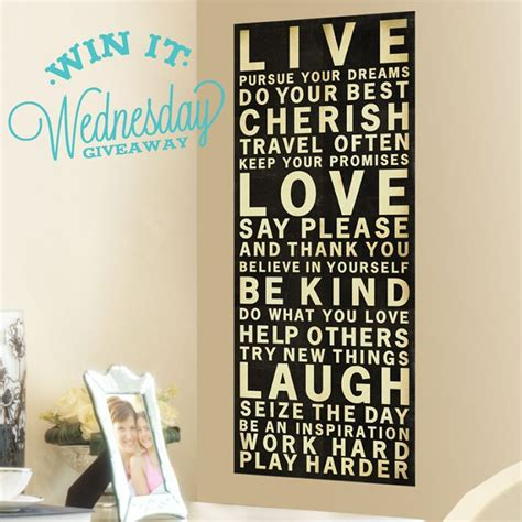 diy teen wall decor live love laugh wall decal banner and you ll be entered to win