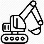 Machinery Heavy Icon Tehnika Gpi Excavator Construction