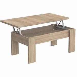 Table Basse Modulable En Agglomr Coloris Chne 100 X 50