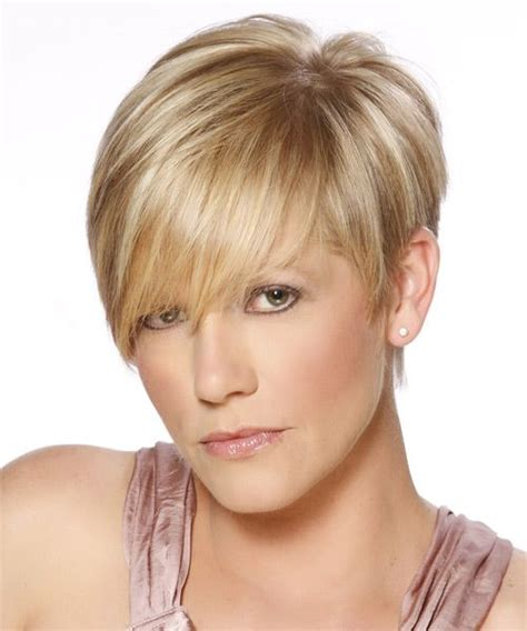 short jagged layers formal short straight hairstyle