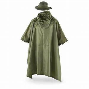 Fox Men's Tactical Ripstop Military Rain Poncho and Boonie ...