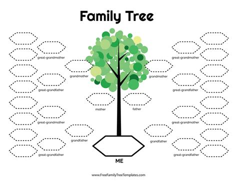 family tree template waneworg