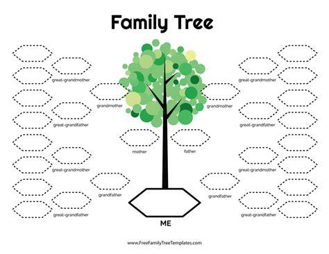 family tree template waneworg