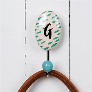 dotcomgiftshop painted ceramic hook letter g ebay With ceramic letter hook