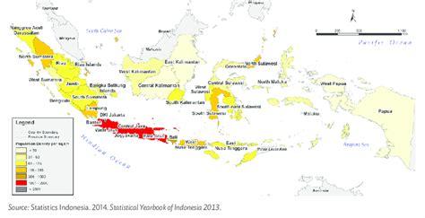 population density map  indonesia