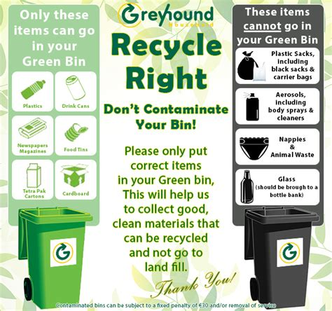Recycle Right  Don't Contaminate  Greyhound Recycling