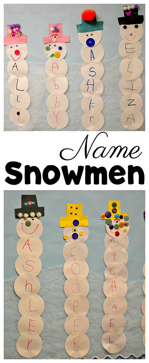 name snowmen are the winter activity for preschoolers 476 | Make name snowmen for a super fun winter activity for preschoolers