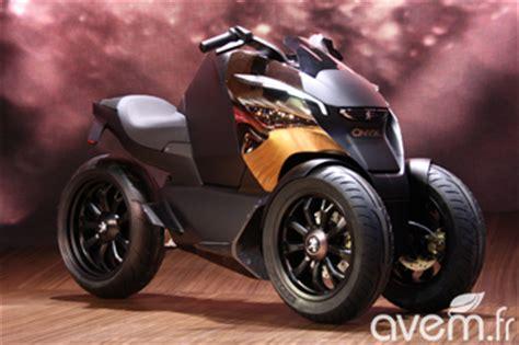 peugeot 3 roues peugeot onyx scooter un concept de trois roues hybride rechargeable au mondial