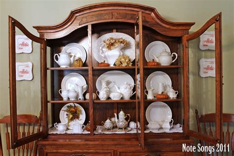 how to decorate a china cabinet note songs fallen whiteness in the hutch