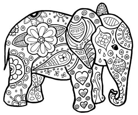 elephant stuff  color elephant coloring page