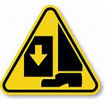 Hazard Sign Foot Crushing Iso Toes Signs