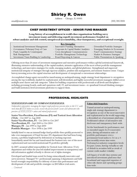investment banking executive resume exle