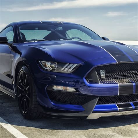 Ford Mustang Shelby Gt350 Blue Mustang Sports Cars 4k