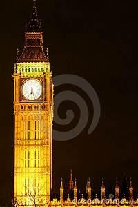 Big Ben Clock Tower At Night Stock Images - Image: 4231984
