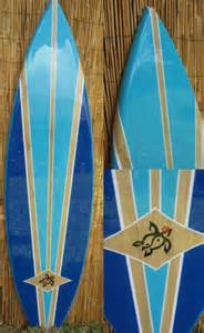 decorative surfboard surf art blue lagoon