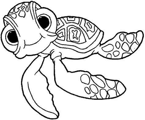 finding nemo squirt finding nemo coloring pages